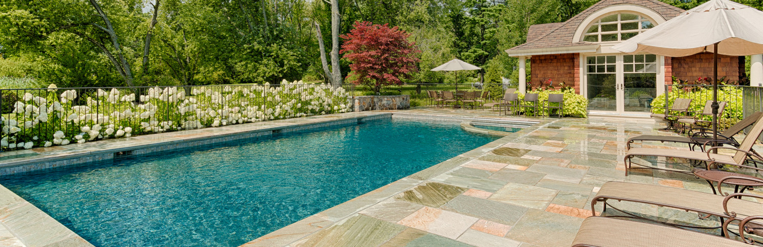 Swimming Pool Built by Pools of Perfection, Armonk, NY